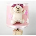 lampe-chevet-enfant-bebe-ours-fille-beige-rose-vieux-blanc-cadeau-naissance-artisanale 2