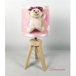 lampe-chevet-enfant-bebe-ours-fille-beige-rose-vieux-blanc-cadeau-naissance-artisanale
