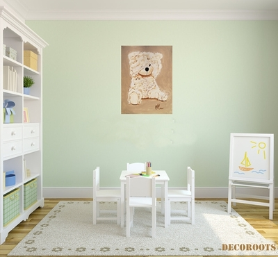 enfant b b th me ours et oursonne decoroots. Black Bedroom Furniture Sets. Home Design Ideas