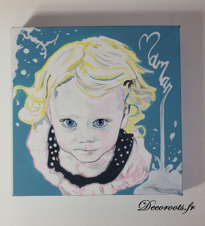 tableau art artiste pop street portrait enfant