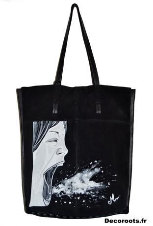 sac-cuir-femme-noir-tote-bag-peint-a-la-main-visage-tache-peinture-art-artiste-22