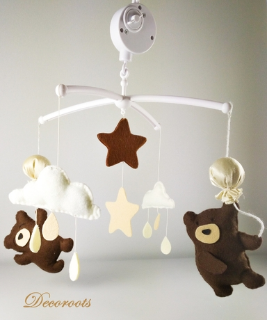 mobile-bebe-ours-beige-chocolat-mixte
