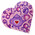 plateau décoratif mural coeur theière violet rose 5