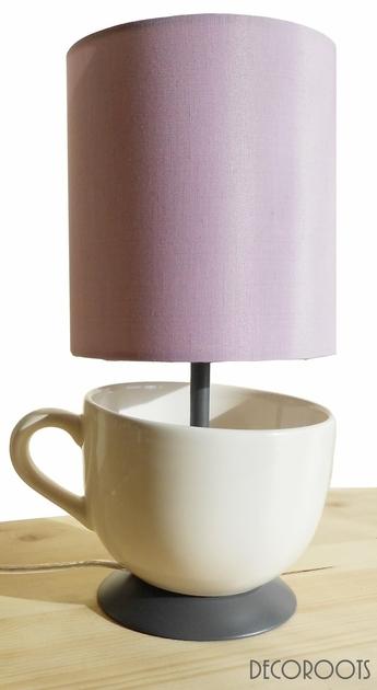 Lampe design tasse un peu de th design contemporain for Objet deco contemporain