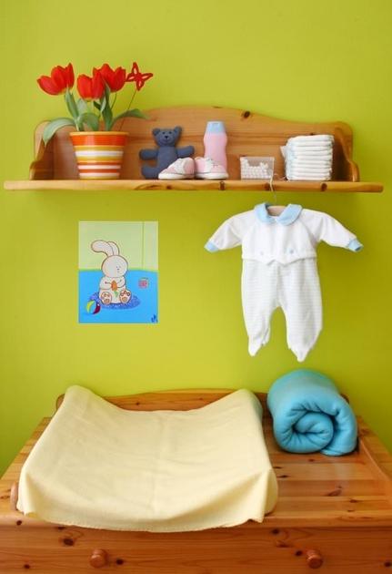 Tableau bébé lapin  Décoration chambre enfant bébé