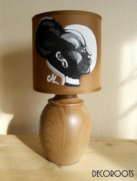 lampe de chevet ethnique afrique femme nature et zen. Black Bedroom Furniture Sets. Home Design Ideas
