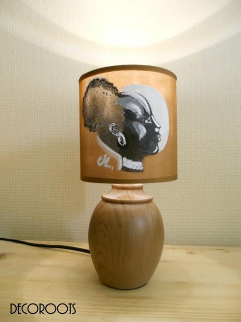 lampe de chevet ethnique afrique femme nature et zen luminaire et objet d coratif nature et. Black Bedroom Furniture Sets. Home Design Ideas