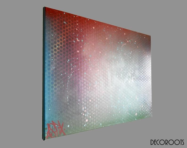 Tableau d co design abstrait cosmos art design contemporain tab - Tableau art deco design ...