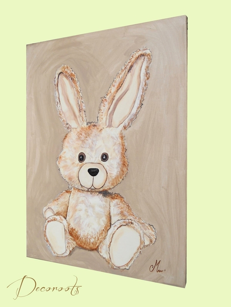 Tableau esth ban le lapin personnalisable enfant b b - Tableau enfant personnalisable ...