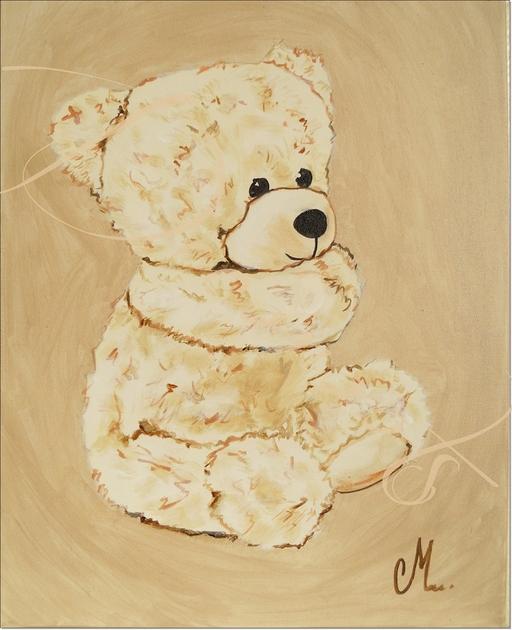 Tableau ours sage enfant b b tableau enfant b b - Tableau chambre bebe garcon ...