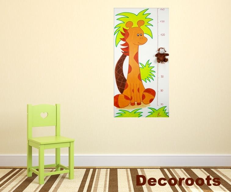 toise b b girafe d coration chambre enfant b b tableau enfant b b mady deco. Black Bedroom Furniture Sets. Home Design Ideas