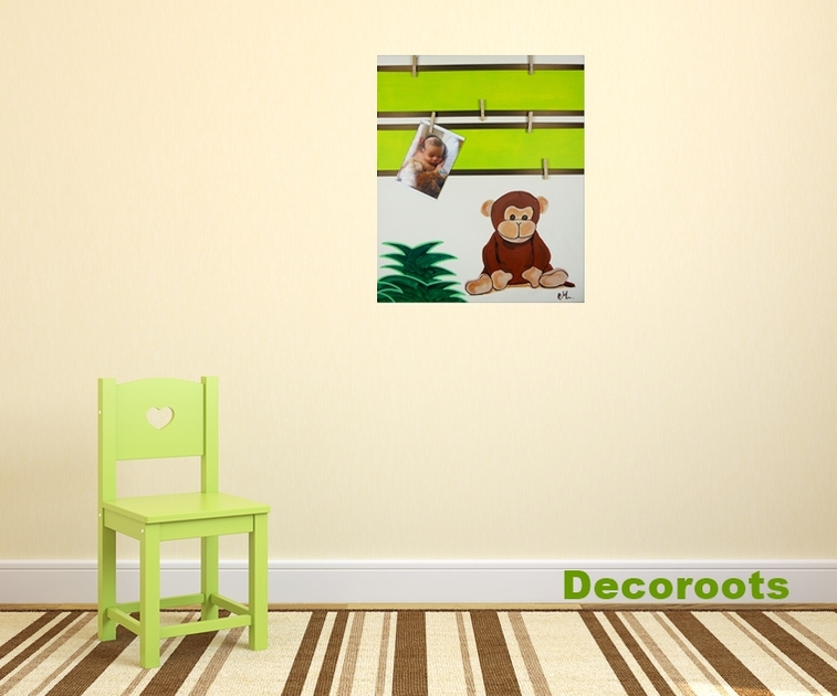 Tableau d co p le m le th me jungle didou le petit singe for Pele mele chambre enfant