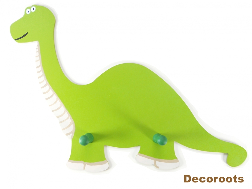 porte manteau dinosaure diplodocus vert enfant b b. Black Bedroom Furniture Sets. Home Design Ideas