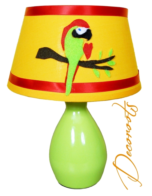 lampe de chevet enfant b b jungle coco le perroquet enfant b b luminaire enfant b b. Black Bedroom Furniture Sets. Home Design Ideas