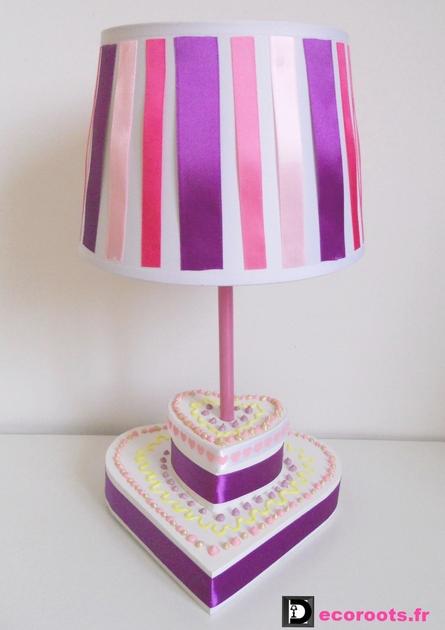 Lampe de chevet enfant b b g teau d 39 anniversare - Lampe de chevet violet ...