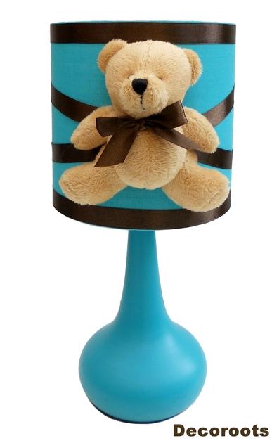 Avis et commentaires de lampe de chevet tactile ours bleu turquoise marron ch - Lampe de chevet chocolat ...