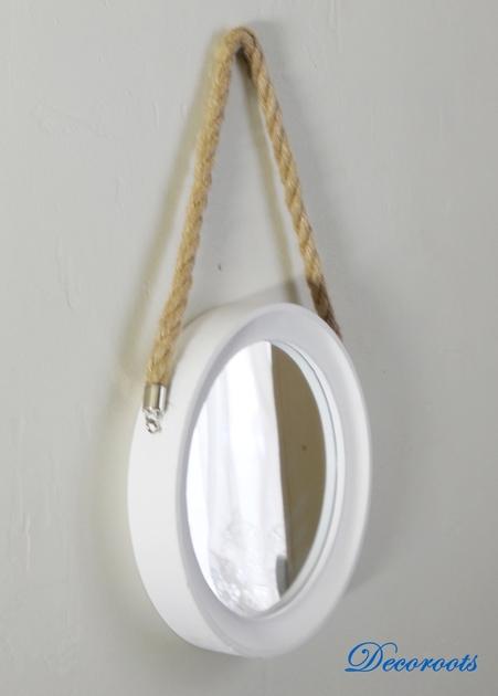 Miroir rond bois th me bord de mer nature et zen for Miroir rond entree