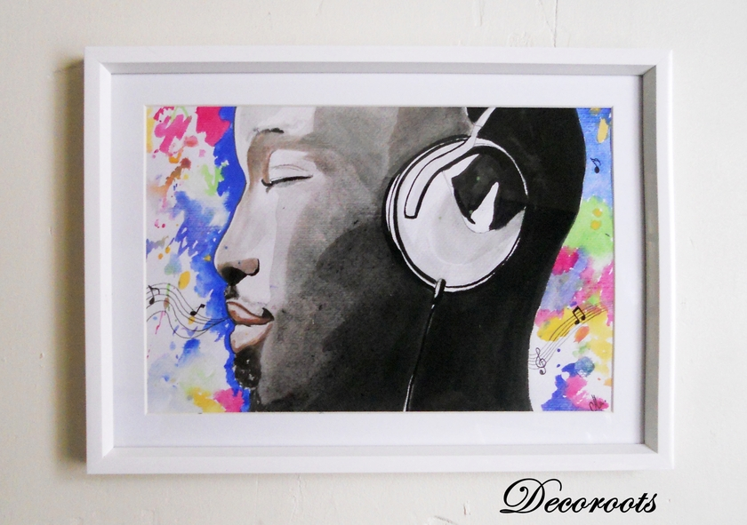 Cadre d co design musique hypnose art design for Cadre contemporain