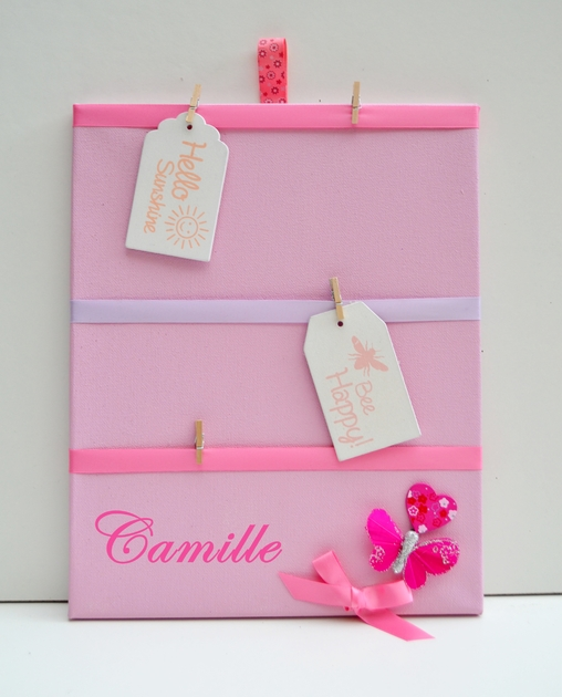 P le m le fille papillon rose enfant b b objet for Pele mele chambre garcon