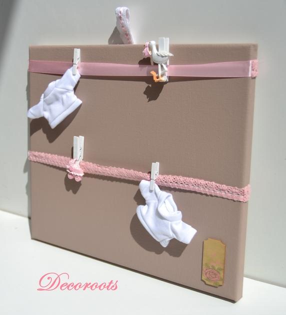 p le m le naissance fille rose et taupe enfant b b objet d coratif enfant b b decoroots. Black Bedroom Furniture Sets. Home Design Ideas