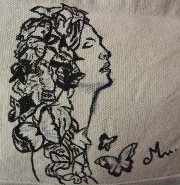 13d7f5fa7d sac à main femme coton peint à la main - Sacs textiles/sacs - decoroots