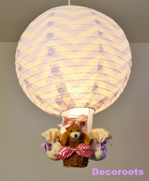 lampe montgolfi re enfant b b fille enfant b b luminaire enfant b b decoroots. Black Bedroom Furniture Sets. Home Design Ideas