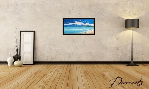 affiche cadre poster photo art plage mer marine