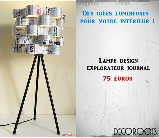luminaire lampe abat-jour lampe de chevet design contemporain horloge