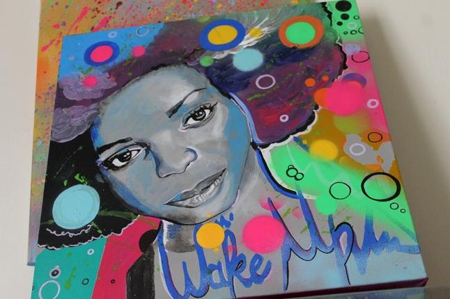 tableau-artiste-art-peintre-contemporain-femme-noire-pop-multicolore-3
