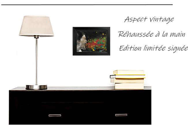 impression art contemporain cadre décoration