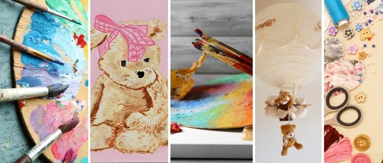 décoration enfant bébé thème ours luminaire ours lustre lampe