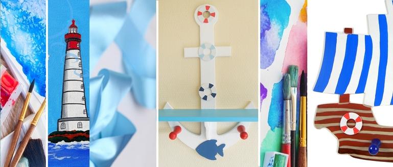 decoration-enfant-bebe-theme-bleu-luminaire-mer-marin-plage-phare ...