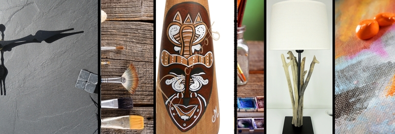 luminaire vase horloge nature zen ethnique africain