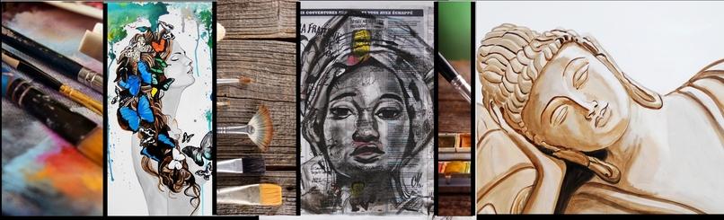 tableau art artiste peintre nature zen ethnique