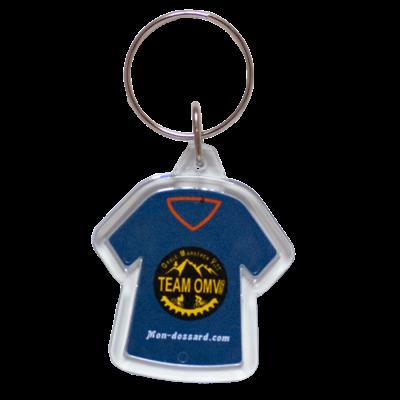 Porte-clés acrylique transparent