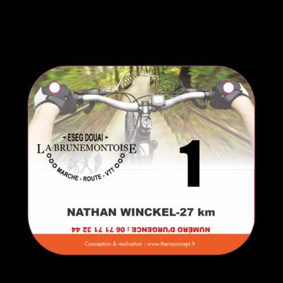 Plaque de guidon cyclosportive