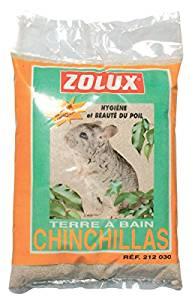 Terre à bain pour chinchillas avec soufre 2 kg Zolux