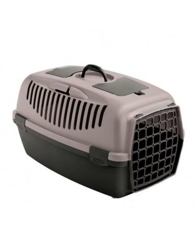 zolux-panier-de-transport-gulliver-54-x-31-x-33-cm-gris-rose-pour-chien-et-chat-jusqu-a-8-kg