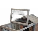 grc0005-2 cage à lapin sur roues