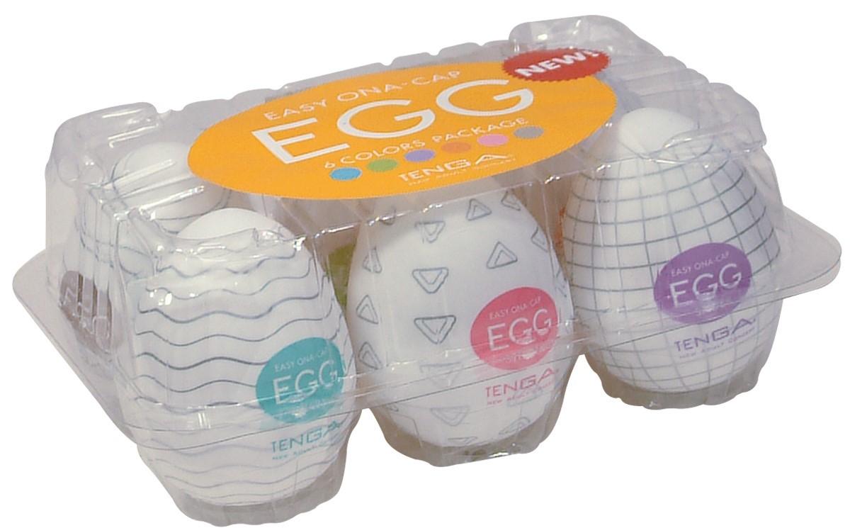 Pack de 6 Masturbateurs Egg Colors