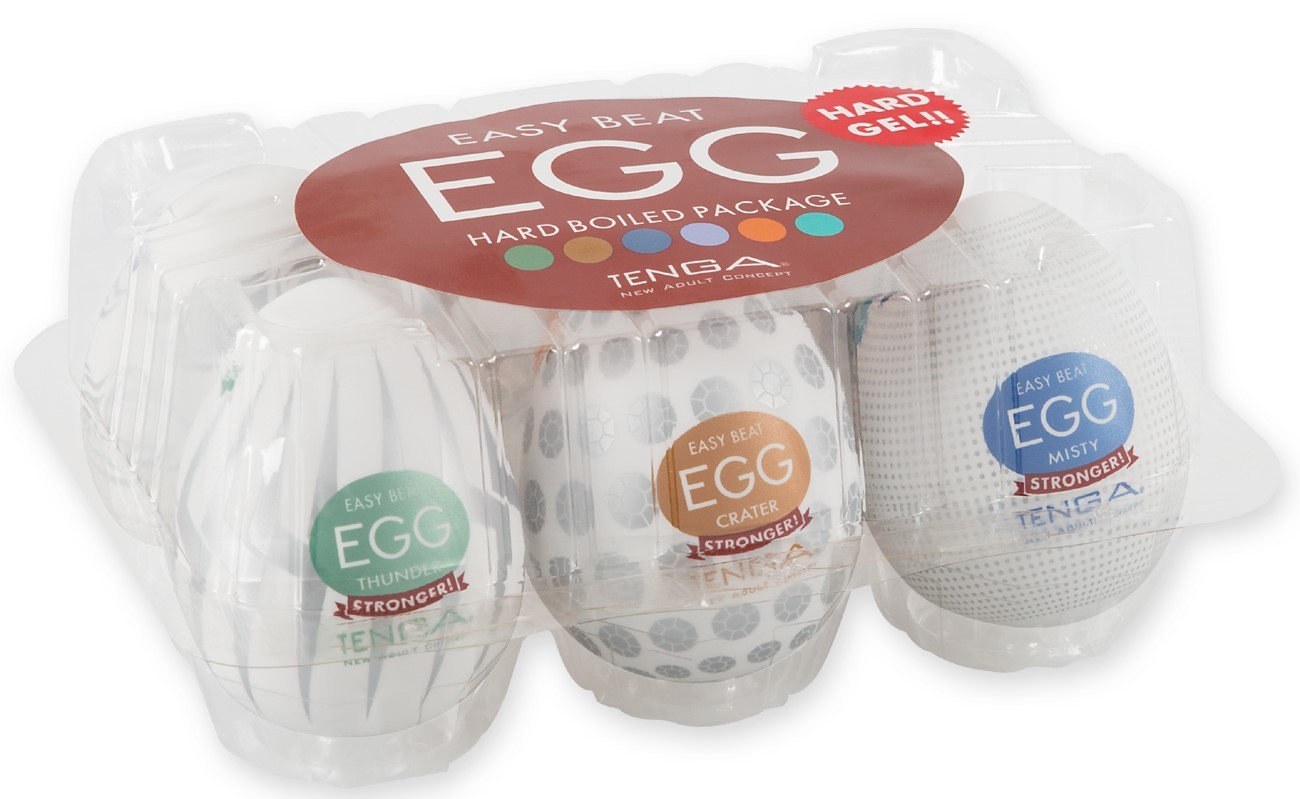 Pack de 6 Masturbateurs Egg Hard Boiled