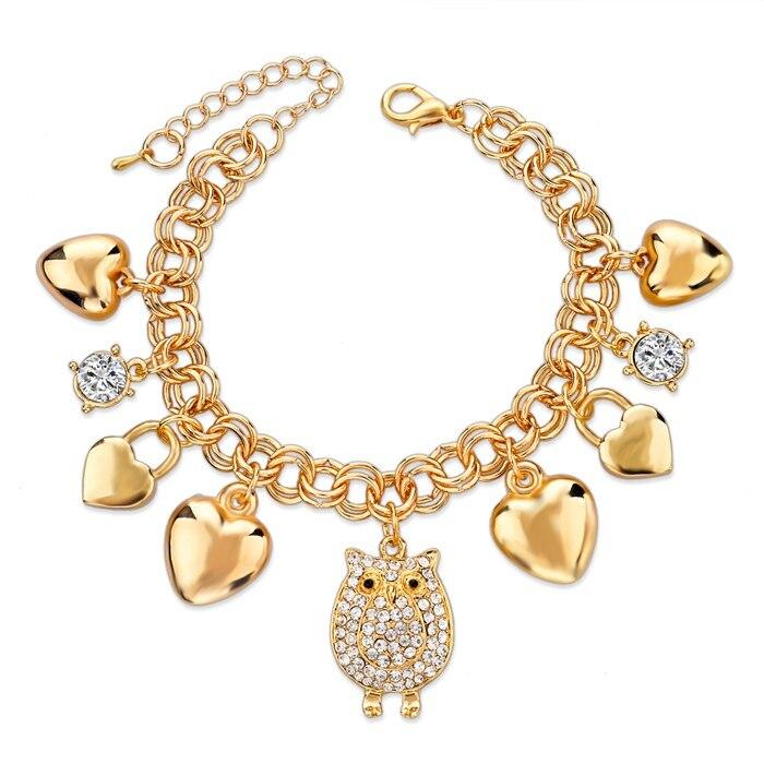 LongWay-coeur-Beetle-bracelets-porte-bonheur-bracelets-pour-femmes-couleur-or-Bracelet-autrichien-cristal-cha-ne