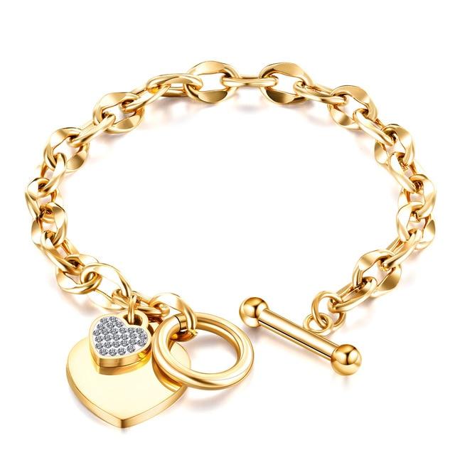 En-Acier-inoxydable-Amour-Coeur-Bracelets-Pour-Femme-Cadeau-de-F-te-Mode-Joyas-de-Cha