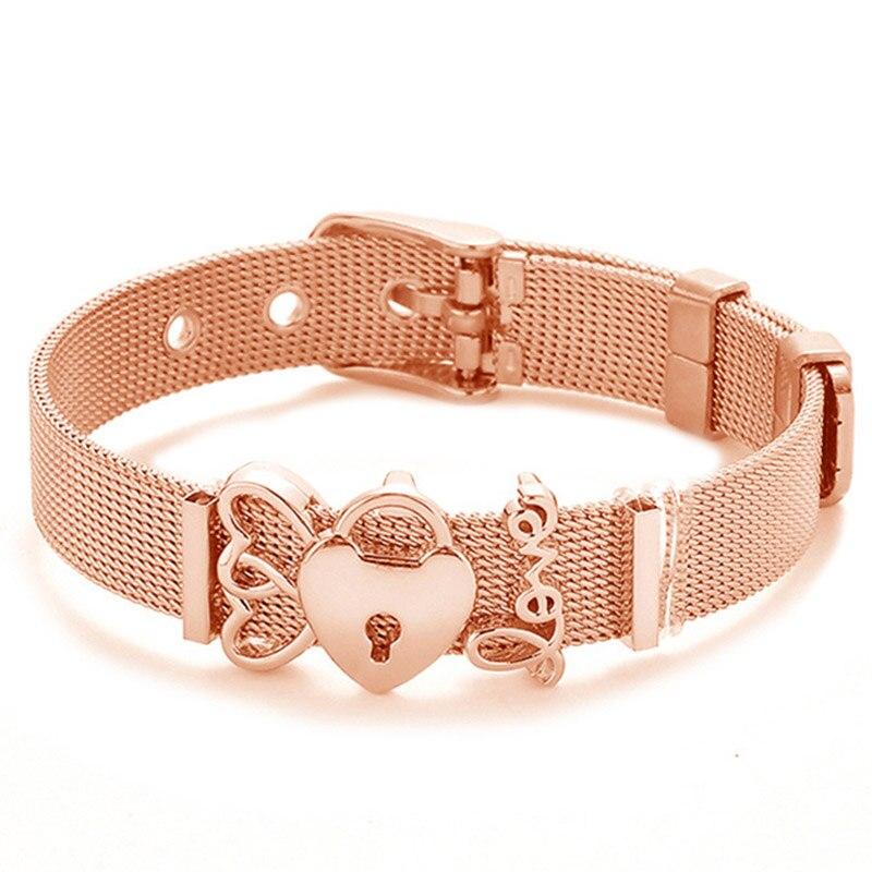 bracelet ancre femme rose gold