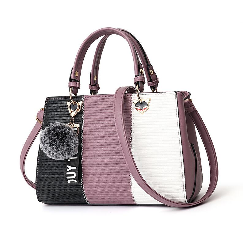 Femmes-Hairball-ornements-Totes-Patchwork-sac-main-sac-main-de-f-te-dames-messager-bandouli-re