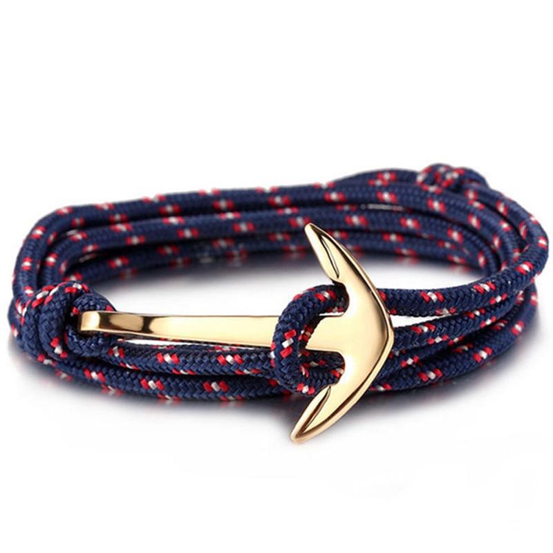 Gros-Style-d-t-en-Nylon-corde-cha-ne-et-lien-Bracelets-bijoux-populaires-ancre-Bracelets