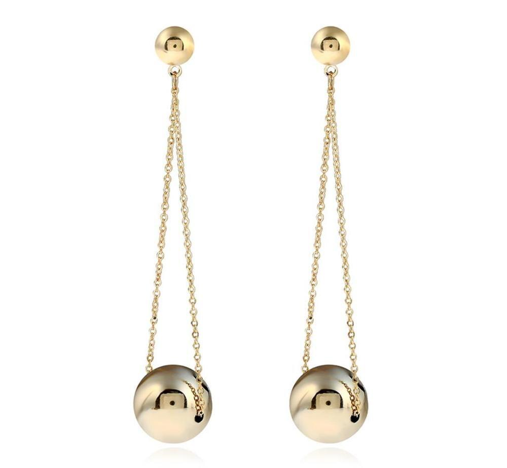 Luxe-or-balle-ong-boucles-d-oreilles-pour-les-femmes-mode-f-te-de-mariage-mode