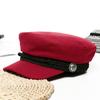 Femmes-casquette-de-Baseball-chapeaux-pour-femmes-hiver-octogonale-mode-fran-ais-laine-boulanger-gar-on