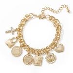 Or-cuivre-croix-coeur-Femme-Bracelets-breloques-mode-cha-ne-Bracelet-pour-femmes-Bracelet-Femme-cadeau