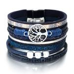 ALLYES-Cuir-bracelets-pour-femme-2019-Mode-Arbre-de-Vie-Dames-Boh-me-Multicouche-Large-Bracelet